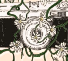 Vintage Camera Blooms Sticker