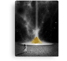 Spaceman Discovers Cheese Canvas Print