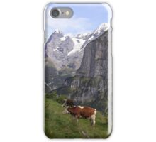 View of the Eiger from Mürren iPhone Case/Skin