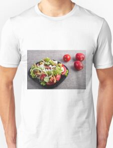 Small plate of natural salad of raw vegetables Unisex T-Shirt