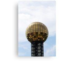 Golden Disco Ball Canvas Print