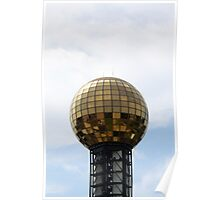 Golden Disco Ball Poster