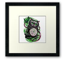 The Looking Glass Cat Framed Print