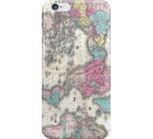 Vintage Map of The World (1852) iPhone Case/Skin