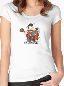 MandoPony™ Explodes Women's Fitted Scoop T-Shirt