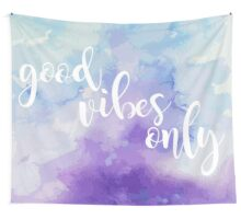 Good Vibes Only Watercolor Wall Tapestry