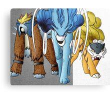 Shiny Legendary Beasts - Manga Edit Canvas Print