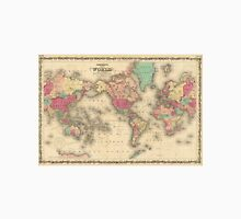 Vintage Map of The World (1860) Unisex T-Shirt