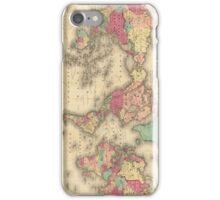 Vintage Map of The World (1860) iPhone Case/Skin