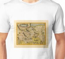 Map Of Saxony 1613 Unisex T-Shirt