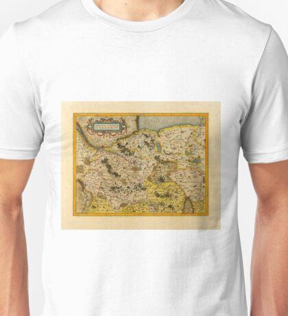 Map Of Saxony 1613 Unisex T-Shirt