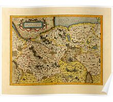 Map Of Saxony 1613 Poster