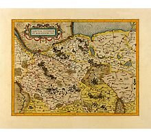 Map Of Saxony 1613 Photographic Print