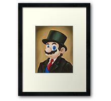 Dapper Mario Framed Print