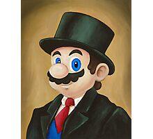 Dapper Mario Photographic Print