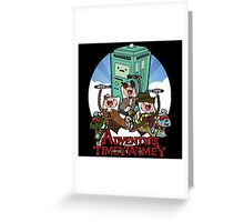 Adventure Time Police Box Greeting Card