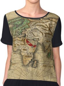 World Map 1513 Chiffon Top