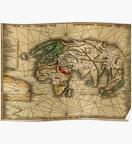 World Map 1513 Poster