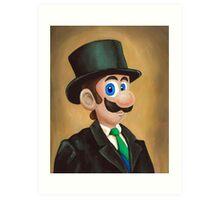 Dapper Luigi Art Print