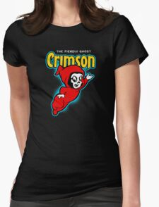Crimson the Fiendly Ghost Womens Fitted T-Shirt