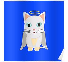 Cat Christmas Angel   Poster
