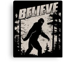 Blieve in Bigfoot Canvas Print
