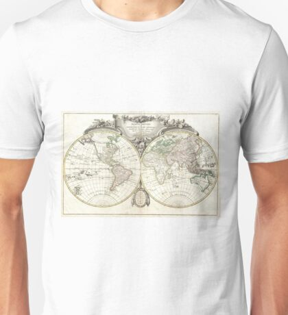 Vintage Map of The World (1775) Unisex T-Shirt