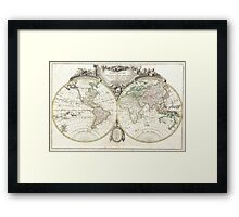 Vintage Map of The World (1775) Framed Print