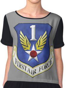 First Air Force Emblem Chiffon Top
