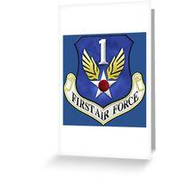 First Air Force Emblem Greeting Card