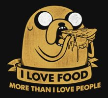 I Love Foods Pizza Jake One Piece - Short Sleeve