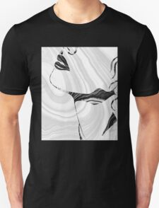 Sensual Portrait Art - Marbled Seduction - Sharon Cummings Unisex T-Shirt