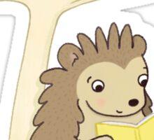 Hedgehog Reading Sticker
