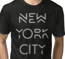 NYC (White on black version) Tri-blend T-Shirt