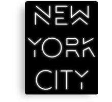 NYC (White on black version) Canvas Print