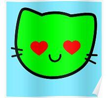 Kawaii Kitty Cats 2048 - tile 512 Poster