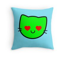 Kawaii Kitty Cats 2048 - tile 512 Throw Pillow