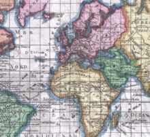 Vintage Map of The World (1780) Sticker