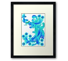 Blue Firebird Framed Print