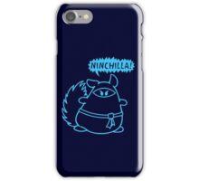 The Ninja Chinchilla - Blue iPhone Case/Skin