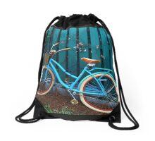 Teal Transport Drawstring Bag