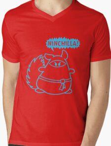 The Ninja Chinchilla - Blue Mens V-Neck T-Shirt