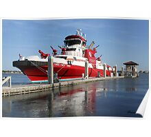343 ~ FDNY's New Fireboat on Route to New York  Poster