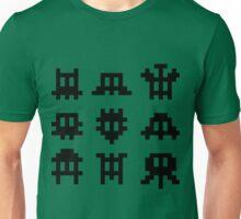 Pixel Invaders - Retro Pixelart Space Ships Unisex T-Shirt