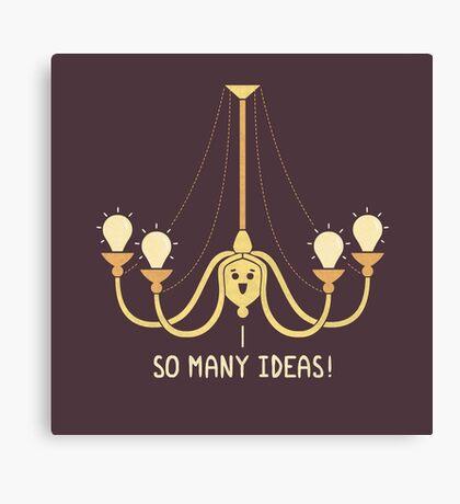 Full Of Ideas Canvas Print