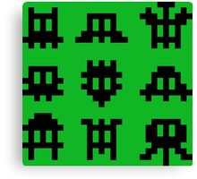 Pixel Invaders - Retro Pixelart Space Ships Canvas Print