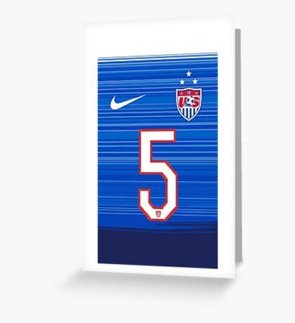 USWNT 2015 Away Jersey Kelley O'Hara Greeting Card