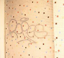 Graffitti Tiled Wall by JennCaen