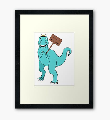 (Parks, Recreation, and) Tourism T-Rex Framed Print