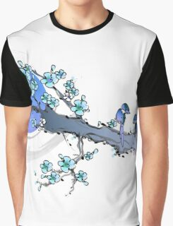 Blue Sakura Graphic T-Shirt